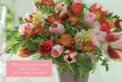 Card Box of 20 Notecards and Envelopes: Freesias - Peony Press
