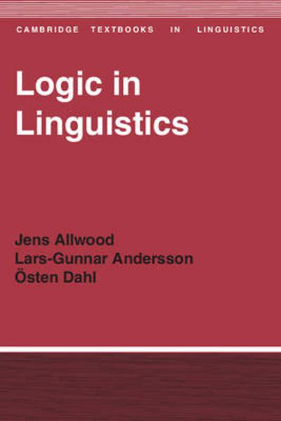 Logic in Linguistics - Jens Allwood