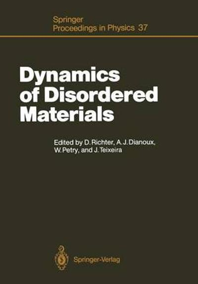 Dynamics of Disordered Materials - Dieter Richter