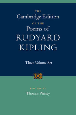Cambridge Edition of the Poems of Rudyard Kipling 3 Volume Hardback Set - Rudyard, Kipling