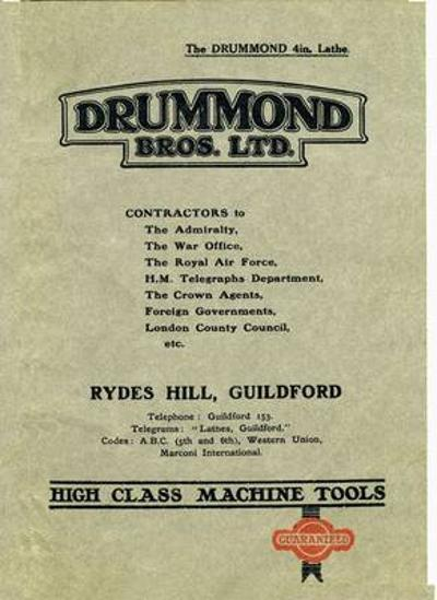 The Drummond 4in: Lathe -