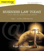 Cengage Advantage Books: Business Law Today, The Essentials - Roger LeRoy Miller Gaylord A. Jentz