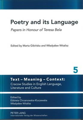 Poetry and Its Language - Marta Gibinska