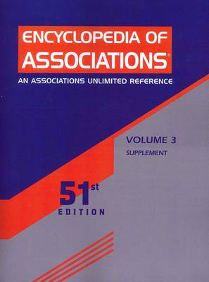 Encyclopedia of Associations 51 V3 SUPP - Gale