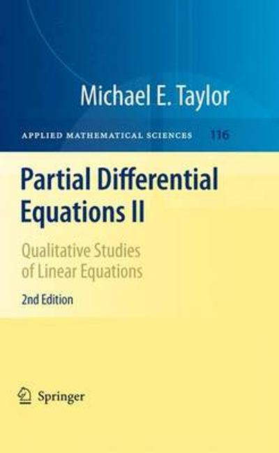 Partial Differential Equations II - Michael E. Taylor