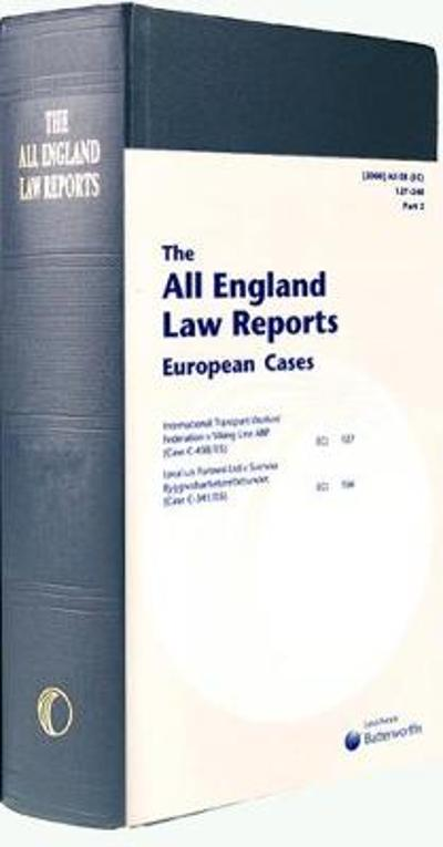 All England European Cases Set 1995 to date -