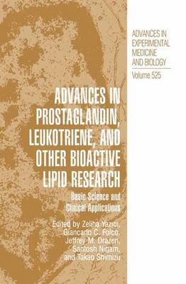 Advances in Prostaglandin, Leukotriene, and Other Bioactive Lipid Research - Zeliha Yazici