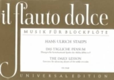 Daily Exercises for Treble Recorder - Hans Ulrich Staeps