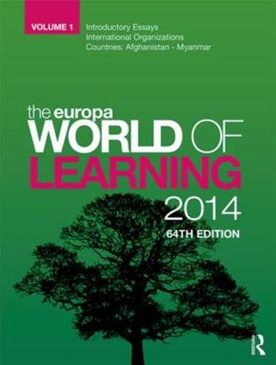 The Europa World of Learning 2014 - Europa Publications
