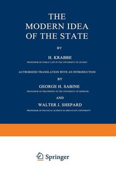 The Modern Idea of the State - H. Krabbe