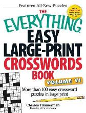 The Everything Easy Large-Print Crosswords Book, Volume VI - Charles Timmerman