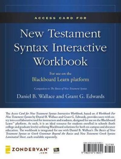 Access Card for New Testament Syntax Interactive Workbook - MBS Textbook Exchange - Daniel B. Wallace