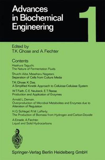 Advances in Biochemical Engineering - T. K. Ghose