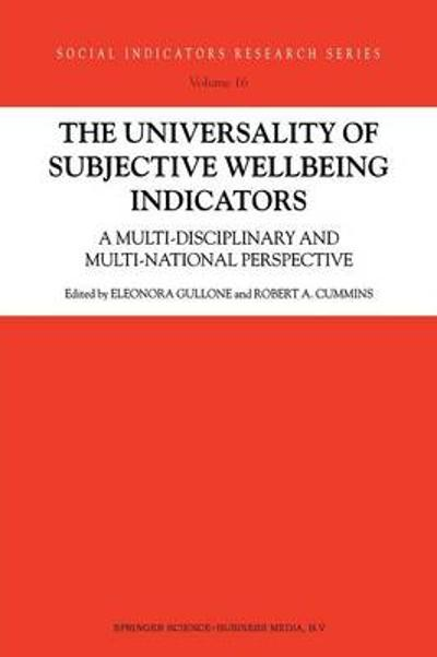 The Universality of Subjective Wellbeing Indicators - Eleonora Gullone